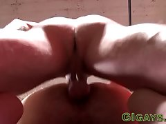 Straight soldier cumming after riding