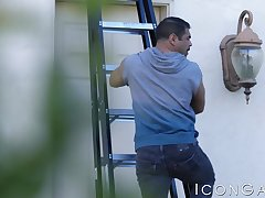 Big dick Draven Navarro outdoor drilling sexy jock Johnny B
