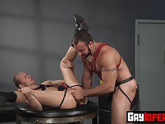 Hunk Spencer Reed double penetrates studs ass with toys hardcore