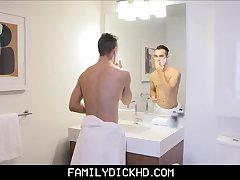 Stepdad Helps His Son Shave Then Fuck