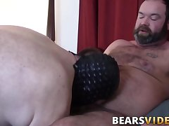 Bear gay Topher Phoenix dick sucked before bareback banging