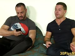 Bear sucks mature guys small cock